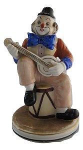 Escultura Estátua De Porcelana Marti Fiero Palhaço Violão