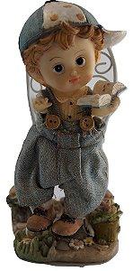 Escultura Estátua De Resina Criança Lendo
