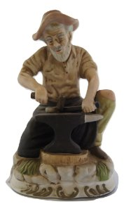 Escultura Estátua De Porcelana Ferreiro - Martin Fiero