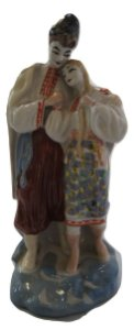 Escultura Estátua De Porcelana Ucraniana Pintada A Mão