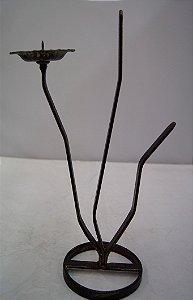 Castiçal De Bronze Formato Flor Para Decoração