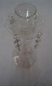 Antigo castiçal porta velas de plástico 1 vela