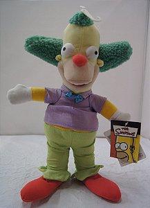 Boneco De Pelúcia Para Coleção Palhaço Krusty Os Simpsons
