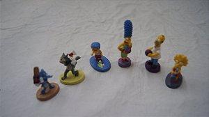 Coleção Os Simpsons 6 Mini Bonecos Em Resina