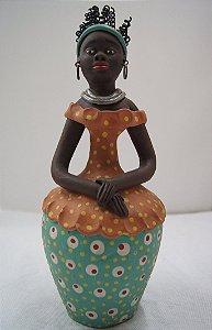 Escultura de Argila Mulher Baiana