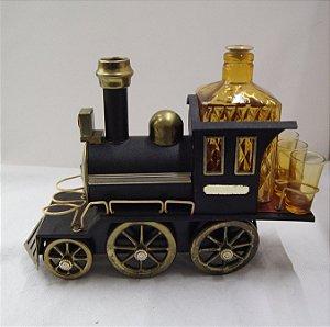 Porta Licor de Trem com 1 licoreira e 3 copos