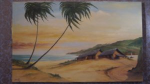 Tela, Quadro Pintura Óleo Eugênio Shuwaloff  59 cm x 94 cm