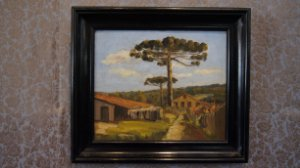 Tela, Quadro Pintura Óleo Kurt Boiger 2 Lados 54 cm x 62 cm
