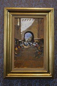 Tela, Quadro Pintura Óleo Di Bernardi 90 cm x 97 cm