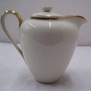 Antiga leiteira para chá de porcelana krister Alemão dourado