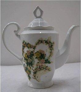 Antigo Bule Para Chá De Porcelana U.S.A Rosas Vermelhas