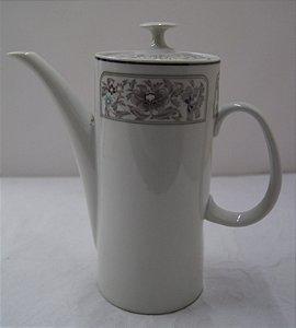 Antigo Bule Para Chá De Porcelana Real Flores