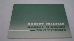 manual do proprietário kadett ipanema 1985-1990