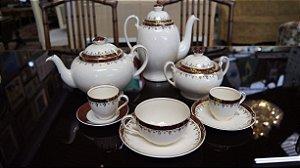antigo jogo de cafe chá de porcelana Alfred Meakin