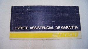 Livrete Assistencial De Garantia Fiat 1985
