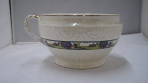 Antigo Penico Urinol Porcelana Branca Inglesa J&g Meaking