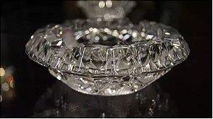 charuteiro cinzeiro de cristal tcheco 15 cm lapidado a mão