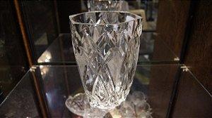 vaso para centro de mesa em cristal tcheco antigo