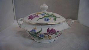antiga sopeira em porcelana real florida