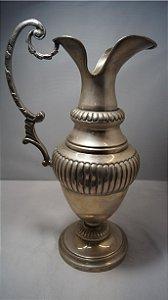 jarra de metal antiga banhada a prata 90