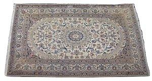 tapete persa para sala quarto marrom e creme 2,86x1,96 cm
