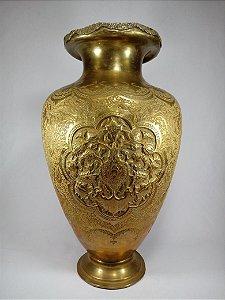 Vaso Dourado Em Bronze