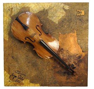 Quadro Violoncelo Notas Musicais - Jorge Pedro
