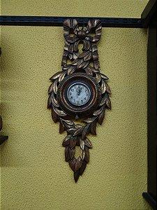 Antigo Relógio De Parede Elgin 8 Dias Madeira Entalhada