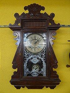 Antigo Relógio De Parede Ansonia Carrilhão