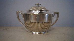Antigo Açucareiro Eberle Banhado A Prata Café Chá