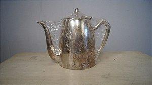 Antigo Bule Banhado A Prata 90 Café Chá Decoração Cozinha