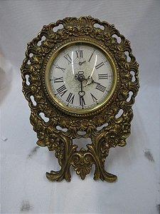 Antigo Relógio De Mesa Rubinick Anos 60 De Bronze Maciço