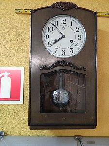 Antigo Relógio De Parede Inrebra  H  Com Vidro Jateado