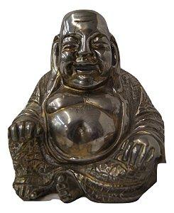 estatua escultura Banhada a prata 90 buda