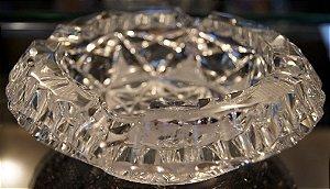 Cinzeiro de Cristal Lapidado Tcheco