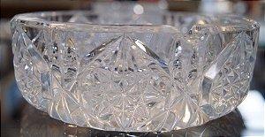 Cinzeiro e Charuteiro de Cristal Bohemio Lapidado