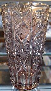 Vaso de Cristal Bohemio Rosado