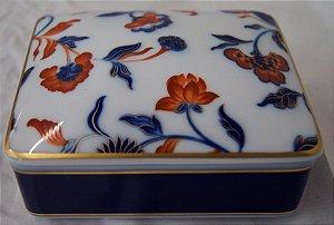 Porta objetos em porcelana vista alegre Portugal Flores