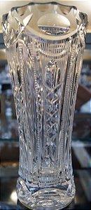 Vaso de Cristal Lapidado a Mão