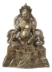 Escultura Estátua de bronze deus hindu 19 Cm