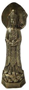 Escultura Estátua de bronze deus hindu Vishnu 38 Cm