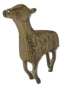 Escultura de Bronze Com Talhados Sumérios