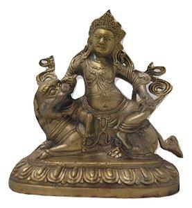 Escultura Estátua de bronze deus hindu Vishnu 18 Cm
