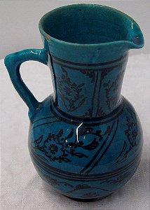Vaso de Cerâmica Azul da Década de 30