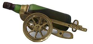 Porta vinho de bronze estilo canhão