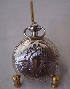 Relógio de bolso preteado quartzo