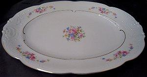 conjunto de  5 travessas saladeiras de porcelana kpm flores