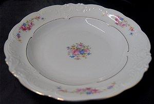 Prato Fundo De Jantar Porcelana Kpm Flores