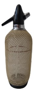Garrafa Com Sifão Gaseificador Dourada Pra Água Com Gás