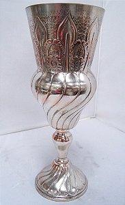 vaso centro de mesa antigo com separador de flores
